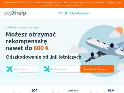 Skyhelp.pl walka z linią lotniczą o odszkodowanie