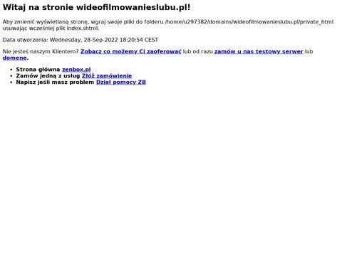 Wideofilmowanieslubu.pl mazowieckie