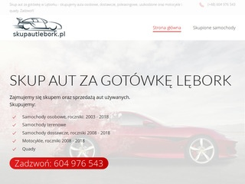 Skup aut w Lęborku