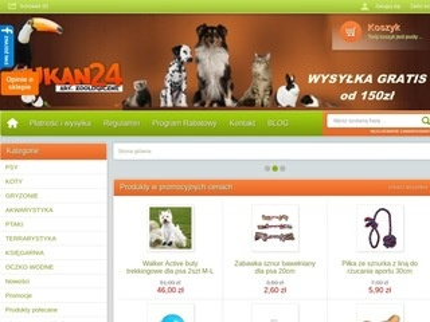 Internetowy sklep zoologiczny - Tukan24