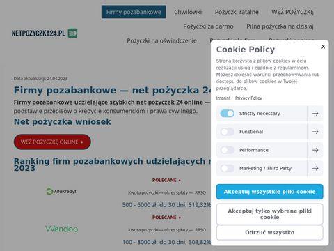 Pożyczki firmy pozabankowe Netpozyczka24