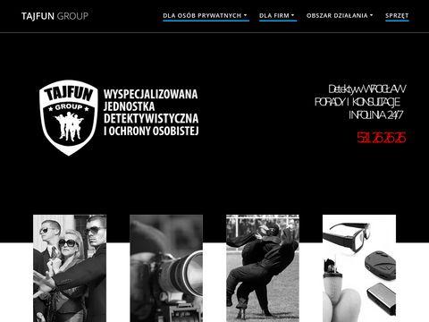 Tajfungroup.pl prywatny detektyw Wrocław - agencja