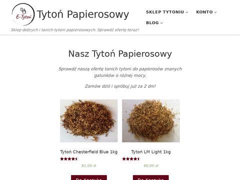 Sklep tytoniu do papierosów E-Tytoń