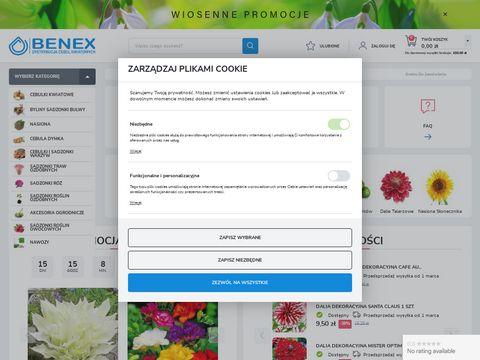 Sklep cebule-kwiatowe.pl - firma Benex