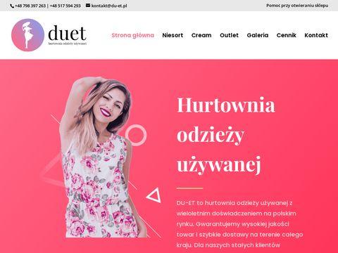 Hurtownia odzieży używanej - du-et.pl