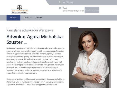 Adwokat Michalska-Szuster