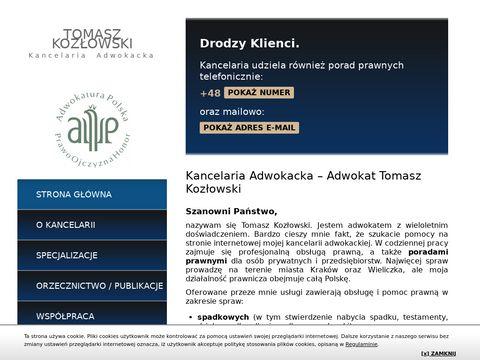Adwokat Kraków Kozłowski