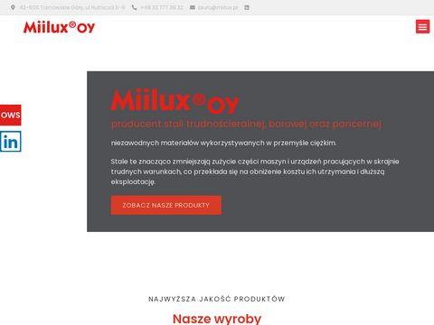 Miilux - produkcja stali, blachy, łyżek
