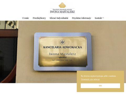 Adwokat Iwona Mastalerz Nowy Sącz