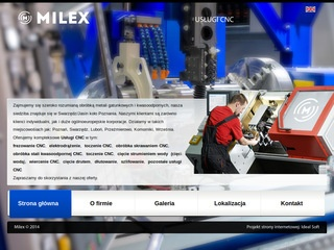 Milex - usługi CNC