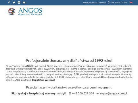 Biuro tłumaczeń Angos