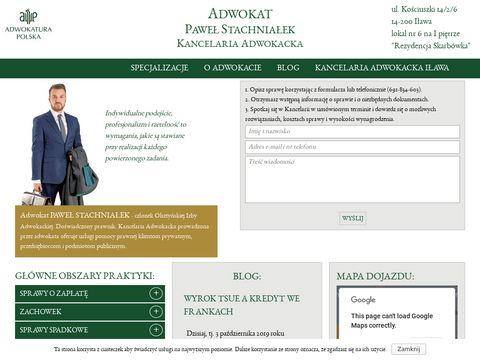 Adwokat Paweł Stachniałek