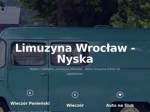 Tania limuzyna w mieście Wrocław