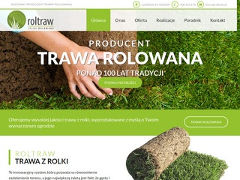 Trawnik z rolki Roltraw - trawa rolowana