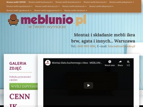 Montaż mebli - meblunio.pl