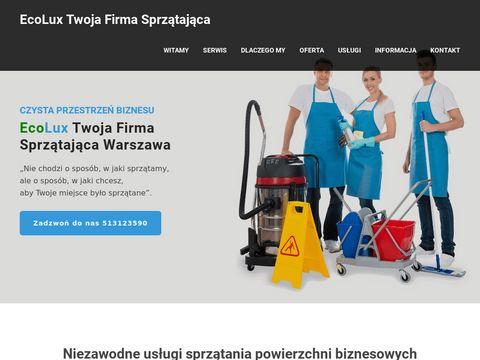 Ecolux serwis sprzątający Warszawa
